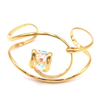 Bracelet cristal Swarovski - Andrea MARAZZINI - BRA1 BLANC AB DORE