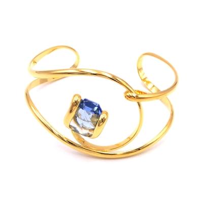 Bracelet cristal Swarovski - Andrea MARAZZINI - BRA1 BLEU CIEL DORE