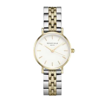 Montre Rosefield The Small Edit Blanc-Duo Argent et Or