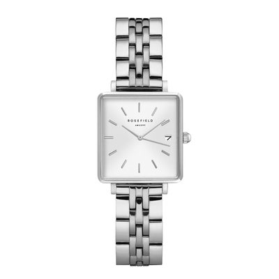 Montre Rosefield The Boxy XS Blanc-Argent