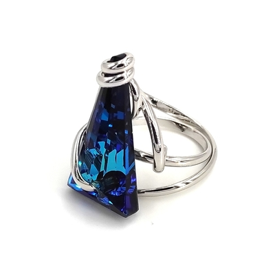 Bague Cristal de Swarovski Andréa Marazzini Mini Spike Bermuda Blue