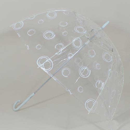 Parapluie femme transparent Circles