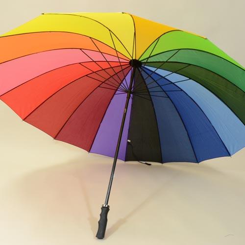 Parapluie résistant coloré à 16 baleines