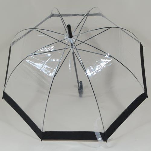 Parapluie à toile transparente