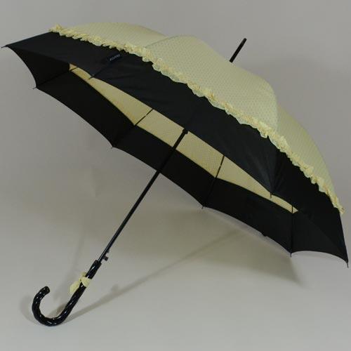 Parapluie à pois blancs et froufrous