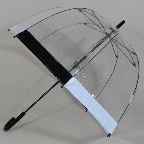 Parapluie bulle Birdcage black and white