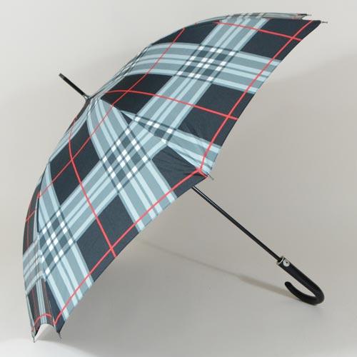 Parapluie homme à grands carreaux