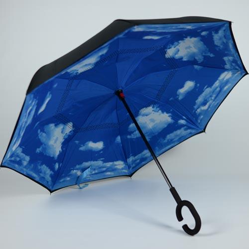 Parapluie ouverture inversée Blue Sky