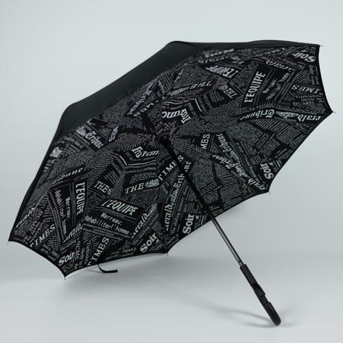 Parapluie inversé style newspaper