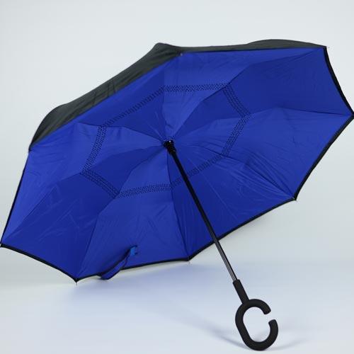 Parapluie pratique bleu