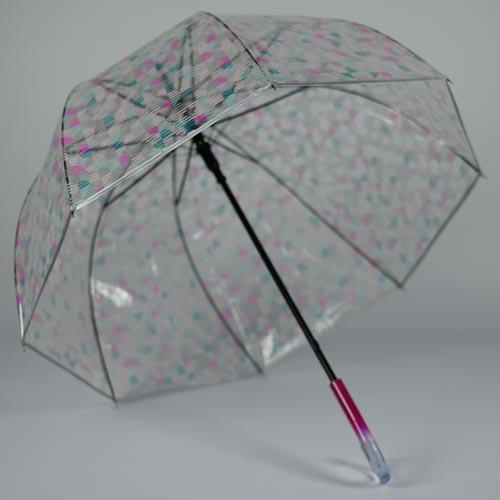 Parapluie transparent Le Pink Glow