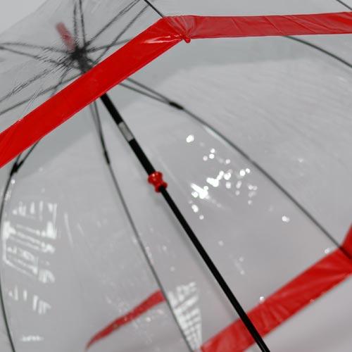 parapluie cloche rouge 5