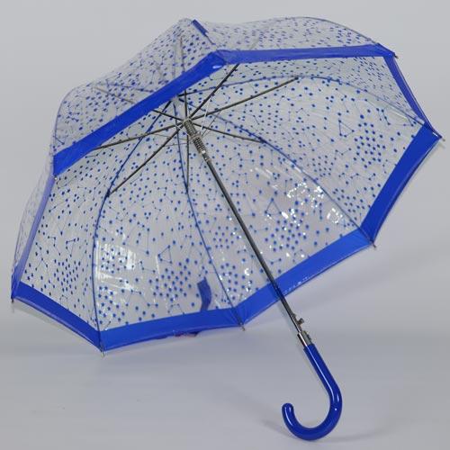 parapluie cloche bleu