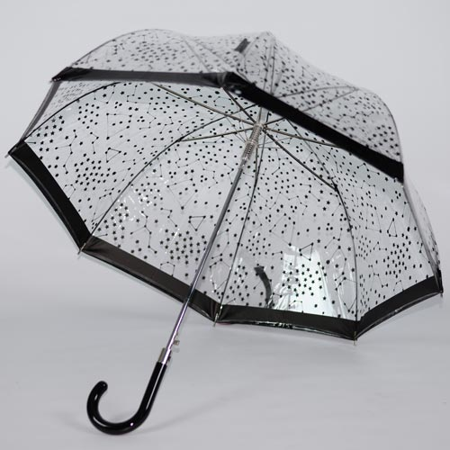 Parapluie transparent Starry Sky black