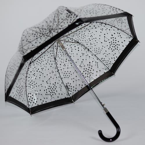 parapluie transparent noir