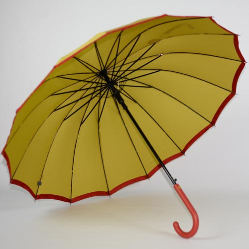 parapluie résistant femme holi jaune 3
