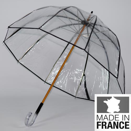 parapluie en cloche transparent l 39 invisible parapluieparis. Black Bedroom Furniture Sets. Home Design Ideas