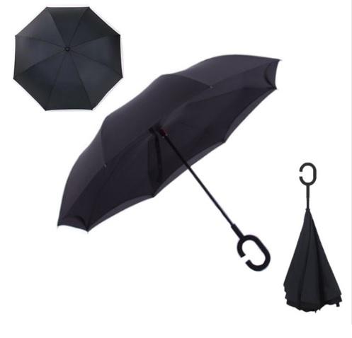Parapluie inversé tendance de couleur noire
