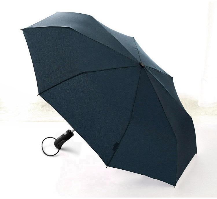 Parapluie pliant grand diamètre bleu profil
