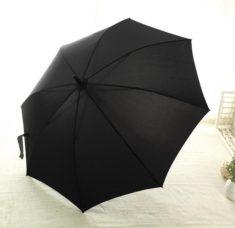 Parapluie long automatique noir haut