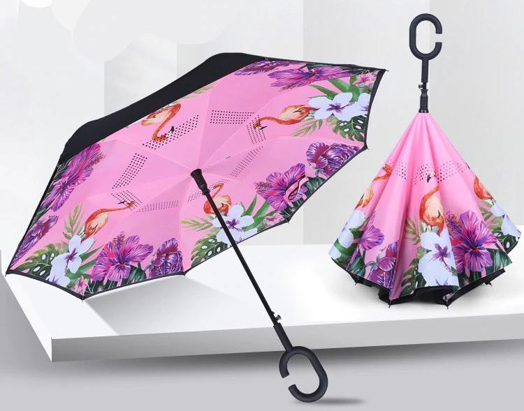 Parapluie inversé à ouverture automatique