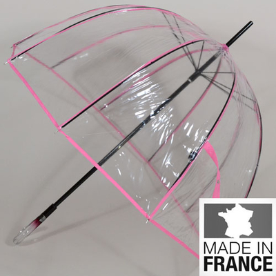 Parapluie transparent L'invisible rose