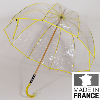 Parapluie transparent L'invisible jaune