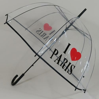 Parapluie transparent I Love Paris