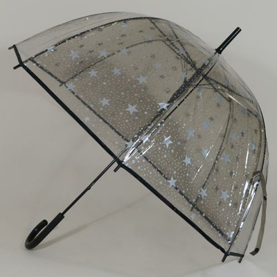 Parapluie transparent Bubble White Stars