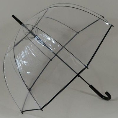 Parapluie transparent cloche Bubble Black