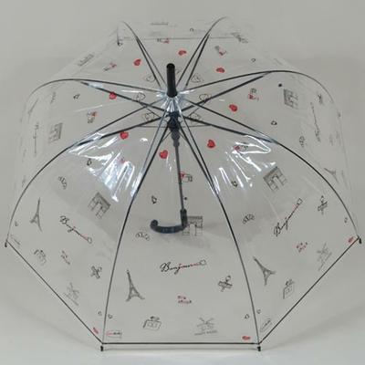 Parapluie transparent Bonjour Paris
