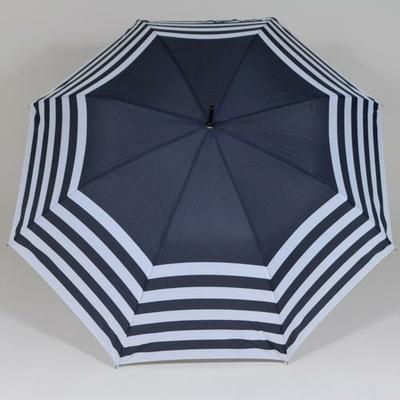 Parapluie marine à rayures blanches