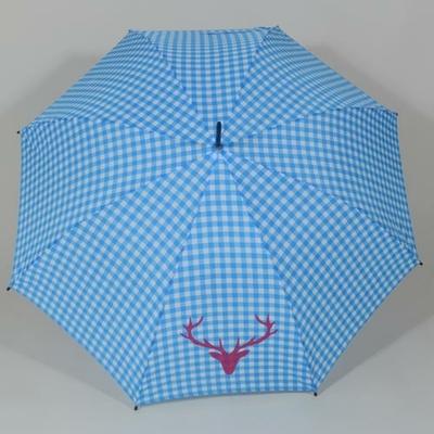 Parapluie imprimé Vichy bleu