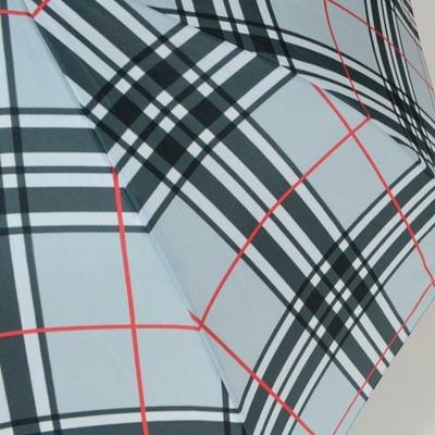 Parapluie tartan gris clair