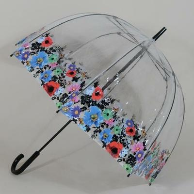 Parapluie transparent Birdcage Wild Flowers