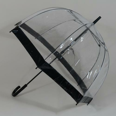 Parapluie transparent Birdcage black