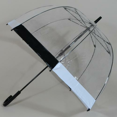 Parapluie transparent Birdcage black and white