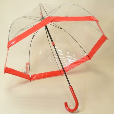 Parapluie transparent Birdcage red