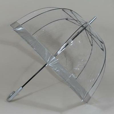 Parapluie transparent Birdcage silver