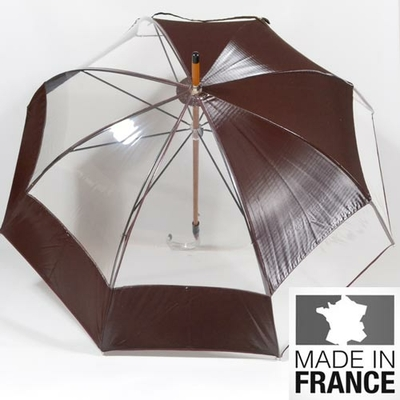 Parapluie transparent Lunatique bordeaux