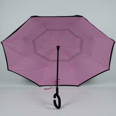 Parapluie fermeture inversée Suprella rose