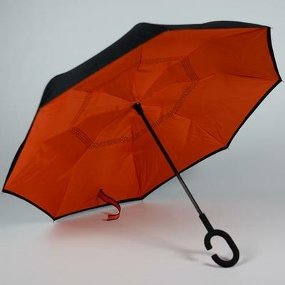 Parapluie à ouverture inversée orange