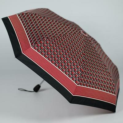 Mini parapluie tissu à damiers rouge
