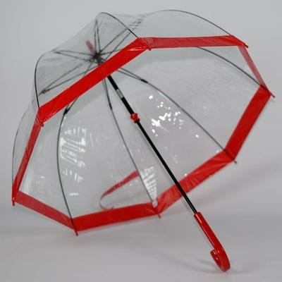 Parapluie transparent mariage rouge