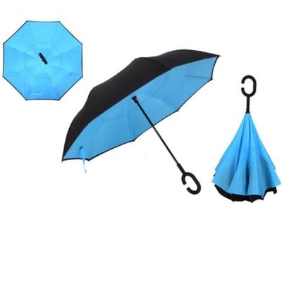 Parapluie inversé innovant bleu