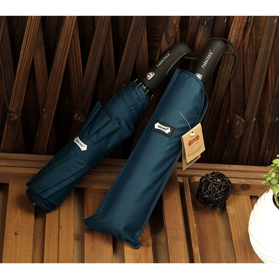 Parapluie grand format pliant bleu