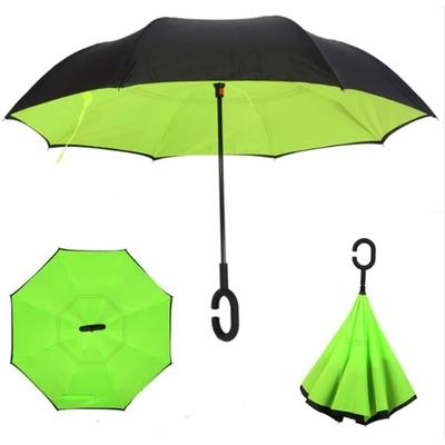 Parapluie inversé très pratique vert léger