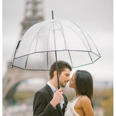 Parapluie cloche transparent français