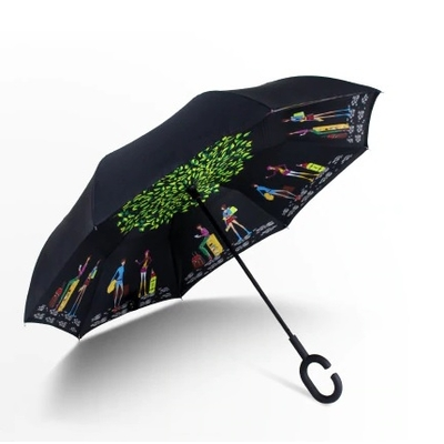 Parapluie réversible à double toile