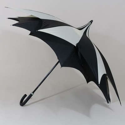 Parapluie anti vent D'Amazoni noir et blanc